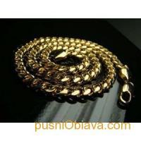 100 грама позлатен ланец 18 карата класическа плетка